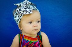 Black and White Vintage Style Headwrap with Butterflies by LucillePaige headband
