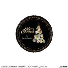 Elegant Christmas Tree Design Candy Tin