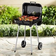 Barbeque Charcoal Outdoor Grill 17.5-Inch Camping BBQ Cooking Smoker Black #OutdoorBBQGrill