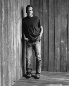 """Kiefer Sutherland... not my normal type of look... but fell in love with him during the """"24"""" TV series."""