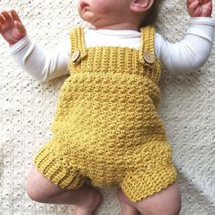 Someone found for: kid rompers!, Find thousands of handmade, old, and special merchandise and gifts regarding each of your quest. Crochet Baby Bloomers, Crochet Romper, Baby Girl Crochet, Crochet For Boys, Baby Boy Knitting, Baby Knitting Patterns, Baby Patterns, Knitted Baby Clothes, Crochet Clothes