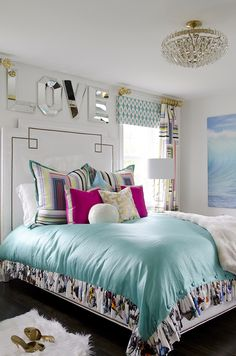 How fun is this?! Located in Watch Hill, Rhode Island, this colorful summer home was designed by Kellie Burke, a Connecticut-based interior design who knows how to make a statement! The vibrant beach
