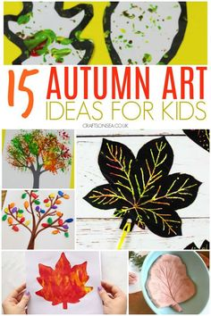 15 Simple and Stunning Autumn Art Ideas for Kids - Crafts on Sea Easy Fall Crafts, Fun Crafts To Do, Halloween Crafts For Kids, Holiday Crafts, Kids Crafts, Art Crafts, Toddlers And Preschoolers, Fall Preschool Activities, Preschool Art