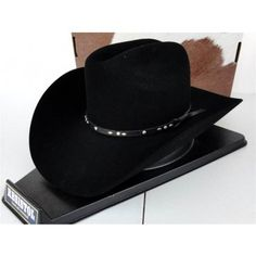 2be00955973 Resistol Cowboy Hat 4X Beaver Fur Felt Black Frisco