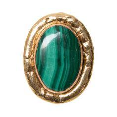 Sylvia Toledano Oversized Malachite Gold Ring