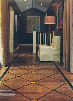 lattice-work painted floor Stenciled Floor, Floor Stencil, Burlap Drapes, Floor Design, House Design, Painted Concrete Floors, Doors And Floors, Living Room Remodel, Headboards For Beds