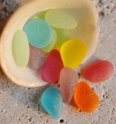 Gorgeous colors of sea glass