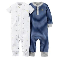 Carters 2Pack Jumpsuits 3M Blue * Check out this great product.Note:It is affiliate link to Amazon.