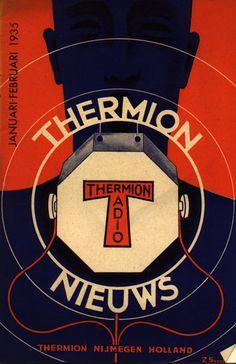Thermion nieuws uit 1935. Thermion stond in Lent (bij Nijmegen) en maakte voornamelijk radiolampen. Het werd later onderdeel van het Philips concern.