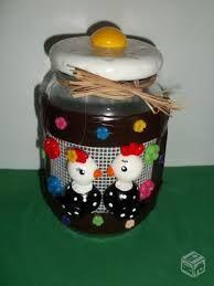 Resultado de imagem para vidros decorados com biscuit