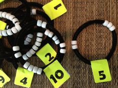 Number sense bracelets- Decomposing numbers… Great hands on for building number bonds