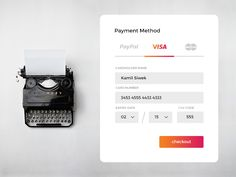Dribbble - Day 004 - Credit Card Payment by Kamil Siwek