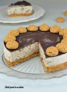 Cheesecake amaretti e cioccolato