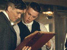 John and Tommy Shelby. Peaky Blinders