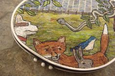 Bezel with micromosaic (detail) - Cynthia Toops and Chuck Domitrovich
