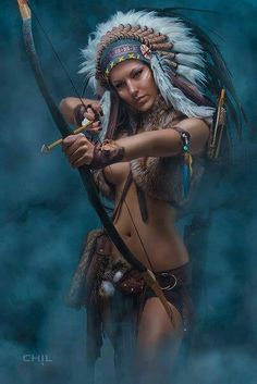Native American female archer