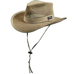 7bcc495375804 Another great find on Khaki Wide-Brim Mesh Safari Hat