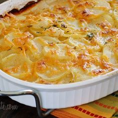 Skinny Scalloped Potato Gratin from skinnytaste.com..//All skinnytaste recipes follow the WW guidelines