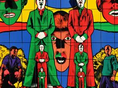 With its saturated colors, Gilbert & George's Waking appears lit from within. This prismatic High Line Art Billboard was on view from September 3, 2013, through October 1, 2013. Photo by Steven Severinghaus
