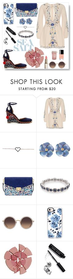 """""""Summer look"""" by pengy-vanou on Polyvore featuring Aquazzura, Mellow World, Napier, Linda Farrow, Casetify, Charlotte Tilbury, Bobbi Brown Cosmetics, Torrid, Summer and summerstyle"""