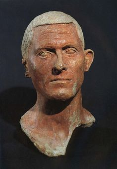 Etruscan Head of a Man from the Votive Deposit of Manganello, Cerveteri, 100 BCE. Museo Nazionale Villa Guilia.