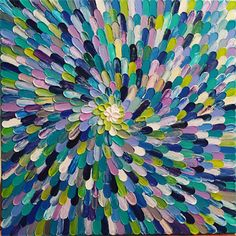 'JOY'.Acrylic on canvas. Textured with pallet knife. Custom art created also to your colours/ size canvas