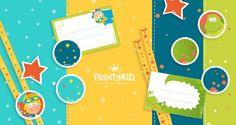 """Para """"súper scrapbook mamis"""", un kit súper colorido. Contiene 3 páginas de papeles decorados, 1 página con bandas de decoraciones variadas y 1 página de etiquetas. Puedes combinarlo con papeles de colores lisos o papel craft y agregarle lazos o botones y todo lo que se te ocurra. Puedes descargarlo en http://printykid.com/es/juego/82-kit-scrapbooking-1.html Manos a la obra!"""