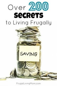 Great tips that help me save money and live my dreams. Follow these 200 tips and get on your way to living the life you really want! I especially like the ideas on how to make your paycheck last longer. #frugal Frugal Living Tips Saving Ideas, Saving Money, Money Savers, Money Hacks, Money Tips, Money Plan, Pennies, Debt Free, Save Save