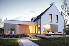 Arch House, Facade House, House Floor, Modern Barn House, Modern House Design, Contemporary Architecture, Architecture Details, House Designs Ireland, Japanese Style House