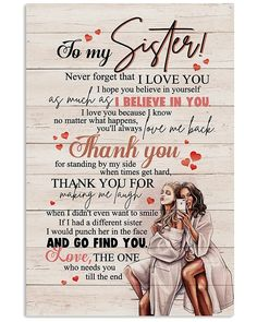 Cute Sister Quotes, Sister Poems, Wishes For Sister, Sister Birthday Quotes, Gifts For My Sister, Happy Birthday Wishes, Sister Sayings, Good Morning Sister Quotes, Mommy Quotes