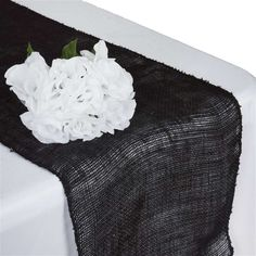 Authentic Rustic Burlap Table Runner - Black  On Sale For: $3.29 each!     DIY, Home Decor, Wedding 2016 and 2017 Trends at affordable wholesale price for the public!  Halloween, Thanksgiving, Christmas, New Years,  Holidays, Easter, Spring, Summer, Fall