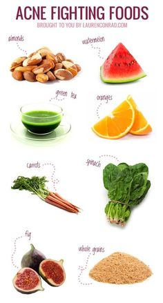 Acne fighting foods.