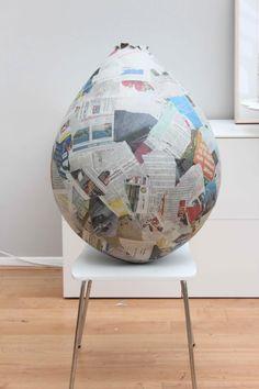 papier mache giant balloon