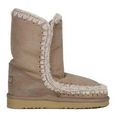 Mou Eskimo Short Boots Women Stone Sand - MOU #mou #eskimo #boots #women #fashion