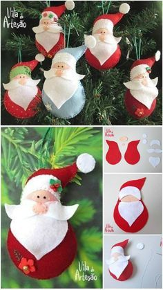 diy crafts to sell easy \ diy crafts . diy crafts for the home . diy crafts for kids . diy crafts to sell . diy crafts for adults . diy crafts to sell easy . diy crafts for the home decoration Christmas Craft Projects, Felt Christmas Decorations, Felt Christmas Ornaments, Diy Craft Projects, Handmade Christmas, Holiday Crafts, Diy Crafts, Sewing Projects, Craft Ideas