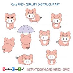 33ea77255a644 Items similar to 20% OFF SALE Pig Clipart