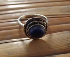 925 sterling silver ring  lapis lazuli silver di silveringjewelry