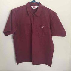 big sale f4d5c caed2 Vintage Ben Davis Heather Burgundy   Maroon 1 2 Zip Shirts
