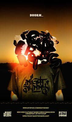 """Flyer The NIGHT SKINNY CREW presenta """"DUORM"""". non utilizzato_"""