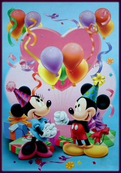 Minni Y Mikie Happy Birthday Disney Cartoon Pictures Mickey Mouse