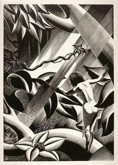 """Rima"" - Paul Landacre - Wood Engraving - 1933"