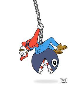 #Mario #WreckingBall Parody #GIF via Reddit user sexydeathtime