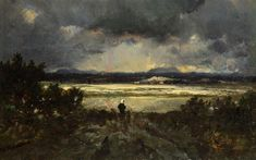 Sunset in the Auvergne, 1844 - Theodore Rousseau