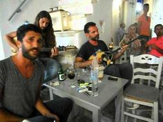 Traditional Greek Street Music in the Streets of Naoussa, Paros