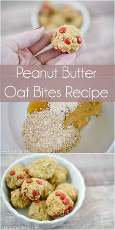 If you're gonna have a late night snacks pick a more healthy one – grab this recipe for Peanut Butter Oat Bites, and add a few mini M&Ms for a pop of chocolate!
