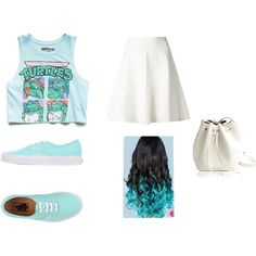 ninja turtles time by llllovemeforeva on Polyvore featuring Forever 21, Theory, Vans and Rachael Ruddick