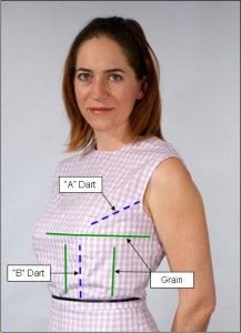 """How to Make Sewing Patterns by Donald McCunn — book update. """"The two things I do differently are I use gingham for fitting the bodice and skirt. And I have revised how I draft the woman's front bodice pattern."""""""