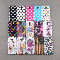 Cute Polka Dots Flowers Pattern Back Case Cover for Samsung Galaxy S4 Mini i9190