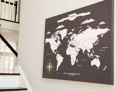 Map to mark all your adventures. the perfect gift for the wanderlust traveler!