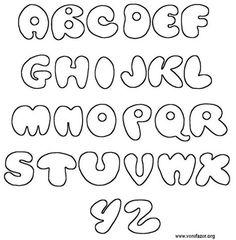 Moldes Letras do alfabeto